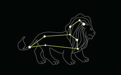 Star constellation Leo