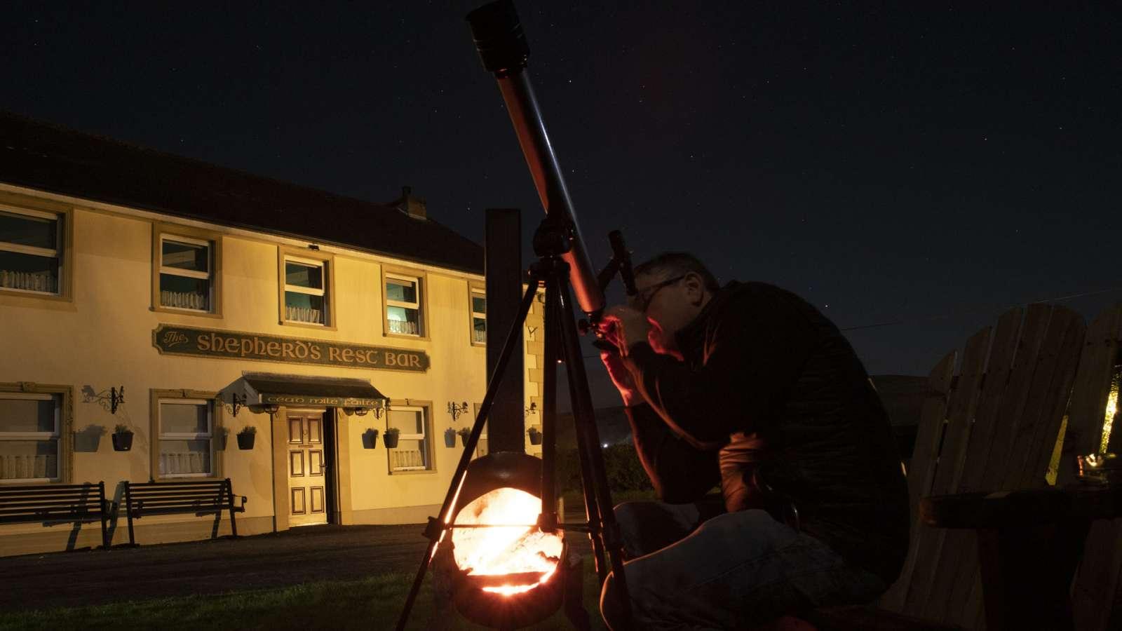 Watching Dark Sky at The Shepherds Rest